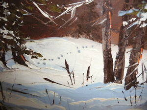 "Listed Artist,Heinz V. Pundleider ""Cross Country Trail"" Oil 1978 Stratford Kitchener Area image 8"