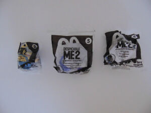 McDonalds 2013 HAPPY MEAL TOYS DESPICABLE ME 2 – Lot of 3 - NEW