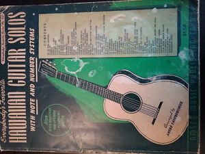 Hawaiian Guitar solos Music Book