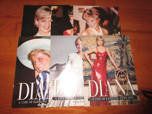 Diana - A life in fashion Daily Mail supplements 6 parts.