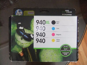 hp 940 printer ink cartridges brand new has 4 colors and xlarge