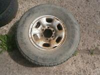 TOYOTA HILUX SPARE WHEEL AND GOOD TYRE 255/70 R15 BRIDGESTONE TYRE & STEEL RIM