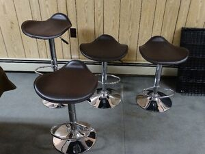 Brown swivel/height adjustable bar stools from Home Outfitters