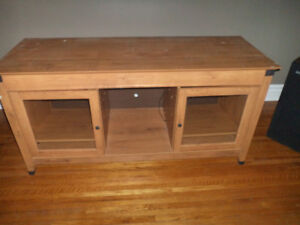 "TV Stand/Stereo Cabinet - Good condition - 61"" Long"