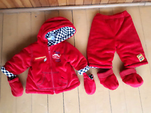 3-6 months Lightning McQueen two pieces suit