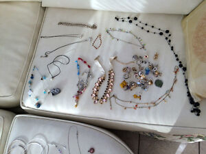 Jewellery: necklaces rings earings bracelets broches etc