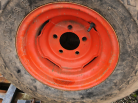 Selection of tractor trailer implement wheels and tyres