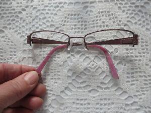Pink armed glasses frames euc Prince George British Columbia image 2