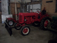 NEED TO SELL farmall forklift plow cultivator rolling harrows