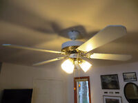 GREAT DEAL: MATCHING SET OF FOUR HAMPTON BAY CEILING FAN/LIGHTS
