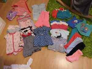 Vêtements 0-9 mois filles, dormeuses, enveloppe coquille et +