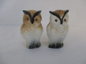 Vintage Bone China New Owl Salt and Pepper Shakers
