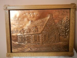 A. Nadeau Copper Plaque La Canadienne Wooden Frame. Numbered 480