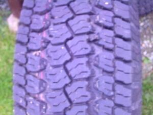 two new tires size 265/70/r17 ,goodyear wrangler and desperado