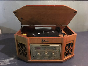 Crosley CD player, radio, cassette, turntable?