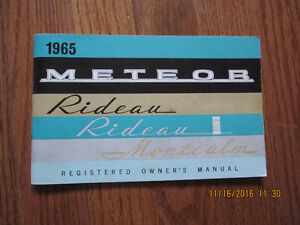 1965 Meteor Rideau and Montcalm Owners Manual