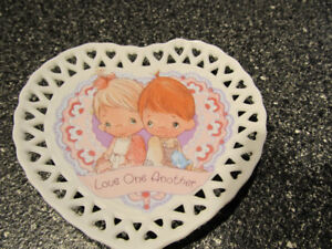"""""""Love one another"""" Precious moments plate."""