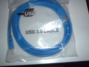 USB 3.0 A Male to B Male Cable - (Blue) - 6ft