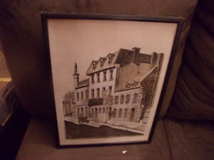 -----2 --OLD PENCIL DRAWINGS OF MONTREAL----------