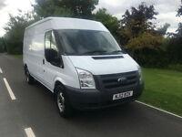 2012 12 FORD TRANSIT 350 LWB 2.4TDCI 100 BHP MED ROOF 83000 MILES NO VAT