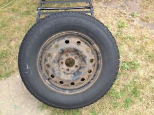4x 225/70R16 m+s  studded tires with rims