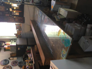 10ft Solid hardwood counter with back drawers