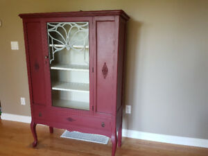 Antique China Hutch/Display Cabinet