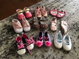 mix of 3-12 month girl shoes