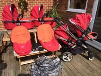 I candy peach double / single pushchair with LOTS of extras