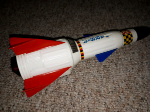 Vintage Tin Helicopter and Rocketship