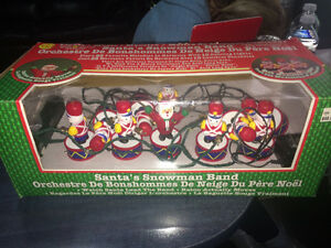 Santas Snowman Band - Vintage Christmas Decorations