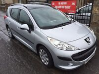 2008 (57) PEUGEOT 207 SW 1.4, 48000 MILES FULL SERVICE HISTORY, WARRANTY, NOT ASTRA FOCUS PASSAT