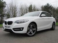 2015 BMW 2 Series 1.5 218i Sport Coupe 2dr Petrol Manual (start/stop) (125