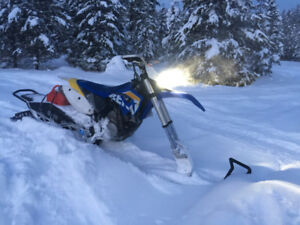 570 husaberg fe enduro/snow bike(timbersled)