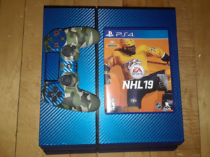 500 GB PS4, 1 controller & NHL 19 $250