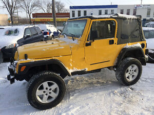 2001 JEEP WRANGLER TJ ONLY...... 107,000 kms, INSPECTED