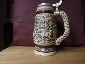 """FS: 1981 Avon Numbered Edition """"The Chuck Wagon"""" Beer Tankard"""