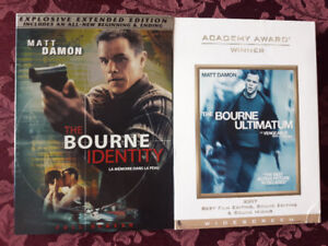 The Bourne Identity and Ultimatum on DVD