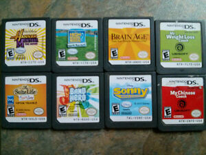 Nintendo Ds lot of 8 loose games $20