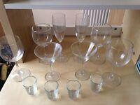 Glasses Assorted Wine Martini Champagne Shot Tumbler Classic Glassware and Vase