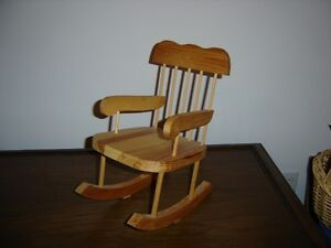 Wooden doll's rocking chair