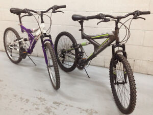 """Youth Teen Full Suspension Bikes - 24"""" Wheels - 2 To Choose From"""