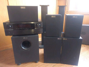 Denon 7 channel amp with nuance speakers