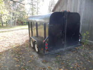 covered steel trailer