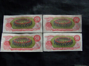Vintage Canadian $50 Musical Ride bills