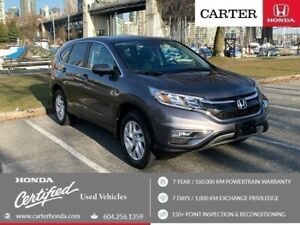 2015 Honda CR-V EX-L + SPRING CLEARANCE + CERTIFIED!