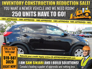 SPORTAGE - NEW! Engineered Finance Packages @ APPROVEDBYSAM.COM Windsor Region Ontario image 1