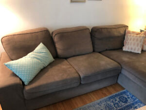Couch with Chaise For Sale! Good Condition/Very Comfortable