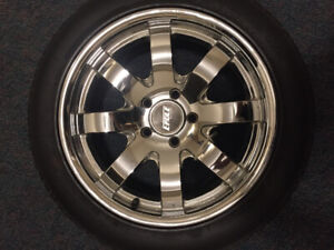 """Eagle Alloy Chrome rims 18"""" with tires 235/50R18 BF Goodrich"""
