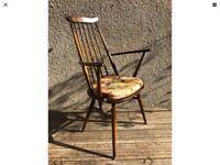 Vintage Retro Single ERCOL Windsor Goldsmith Kitchen Armchair Golden Dawn